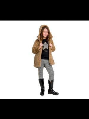 Energiers παλτό γούνα με κουκούλα 16-120208-1