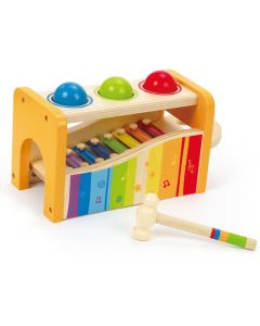 Hape Early Melodies Pound & Tap Bench Με Ξυλόφωνο Και Μπάλες 401916000305.