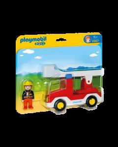 Playmobil Πυροσβέστης με Κλιμακοφόρο Όχημα 6967