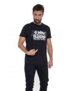 Funky Buddha t-shirt κοντομάνικο FBM011-04219