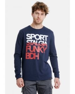 Funky Buddha μπλούζα με τύπωμα FBM016-07219