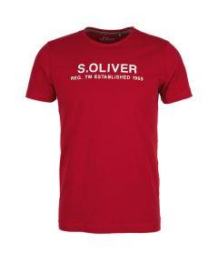 S' Oliver t-shirt κοντό μανίκι με λογότυπο 13.909.32.7972
