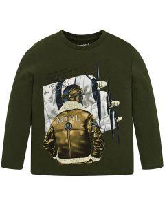 Mayoral μπλούζα μακρυμάνικη με τύπωμα 4017-42
