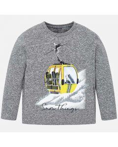 Mayoral μπλούζα μακρυμάνικη με τύπωμα 4019-42