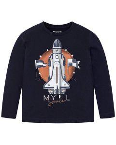 Mayoral μπλούζα μακρυμάνικη με τύπωμα 4029-42