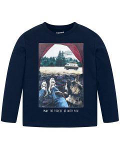 Mayoral μπλούζα μακρυμάνικη με τύπωμα 4031-42