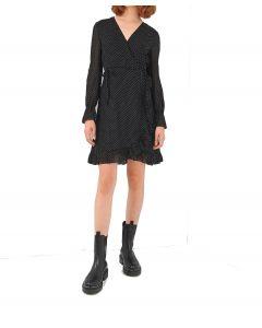 Ale φόρεμα κρουαζέ πουά 8911999