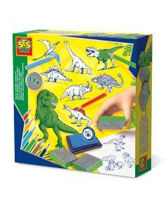 Hobby Planet SES Creative Stamp set Dinosaur - Σετ σφραγίδες δεινοσαύρων SES-14919