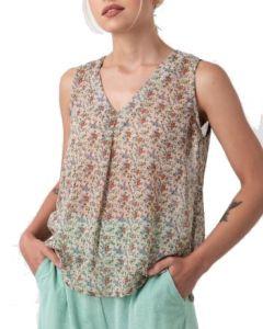 Helmi μπλούζα εμπριμέ αμάνικη 45-03-115
