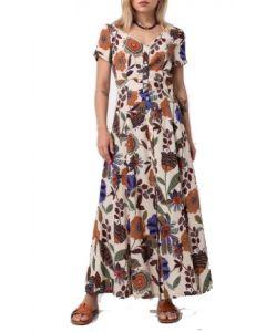 Helmi φόρεμα μακρύ floral 45-05-254