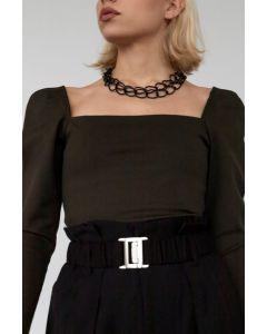 Helmi μπλούζα με τετράγωνη λαιμόκοψη 46-03-066