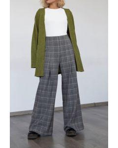 Helmi παντελόνι ψηλόμεσο καρό 46-04-009