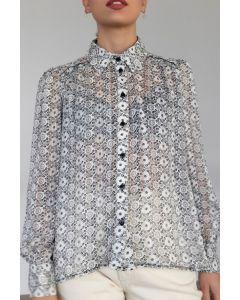 Helmi πουκάμισο εμπριμέ διαφανές  46-02-034