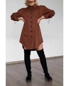 Helmi φόρεμα κοντό σεμιζιέ 46-05-002