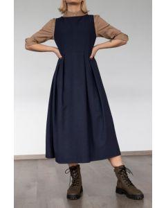 Helmi φόρεμα midi αμάνικο 46-05-253