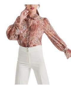 Attrattivo πουκάμισο μακρυμάνικο εμπριμέ 91225100