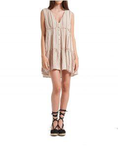Attrattivo φόρεμα mini με ρίγες 91509856