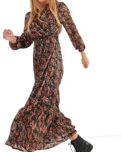 Attrattivo φόρεμα μακρυμάνικο floral 9912183