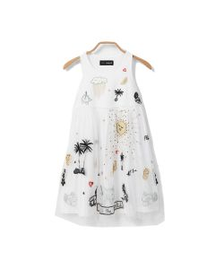Desigual Tuxtla φόρεμα αμάνικο με τούλι 20SGVW03