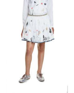 Desigual Hartford φούστα με κεντήματα και τούλι 20SGFW03