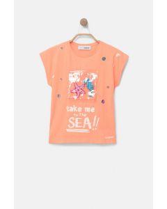 Desigual μπλούζα με διάφανη τσέπη 20SGTK32