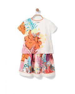 Desigual φόρεμα floral δύο κομματιών 20SGVK20